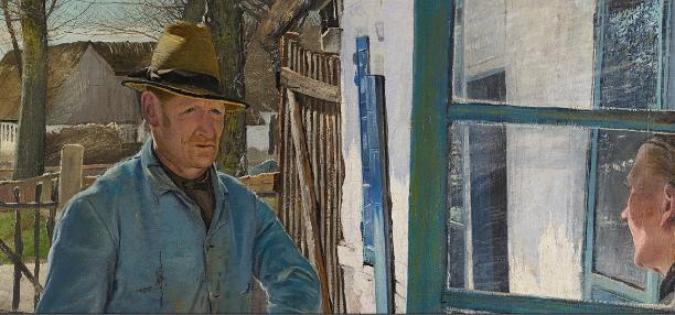 Captura de Whitewashing the Old House1908, por L.A. Ring. Captura tomada del Statens Museum for Kunst/National Gallery of Denmark, en Google Art Proyect.