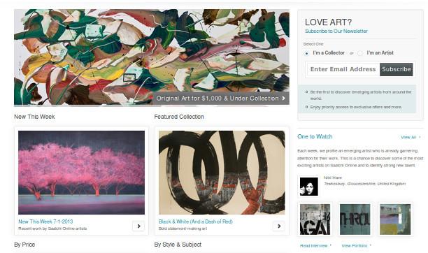 Saatchi Online, un espacio donde vender arte online.