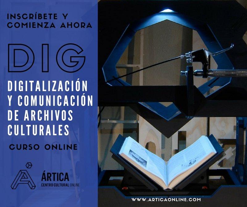 Curso online Digitalización y comunicación de archivos culturales