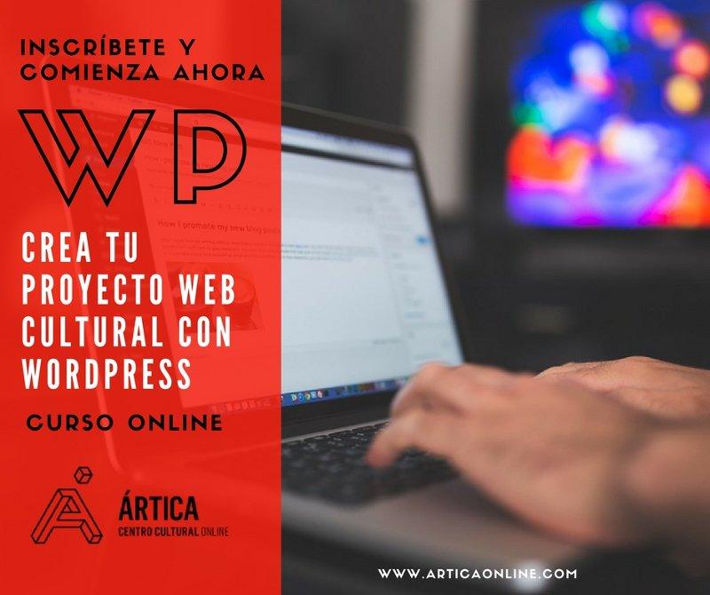 Curso online Crea tu proyecto web cultural con WordPress