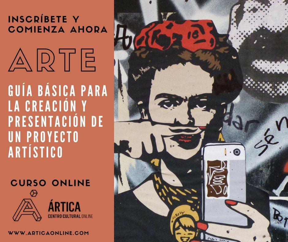 Curso online Guía básica para la creación y presentación de un proyecto artístico