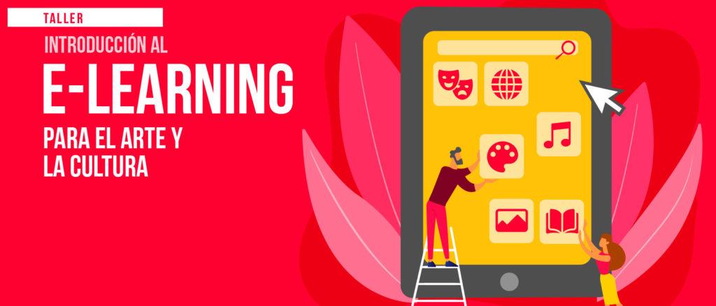 Flyer del curso de introducción al e-learning para el arte y la cultura
